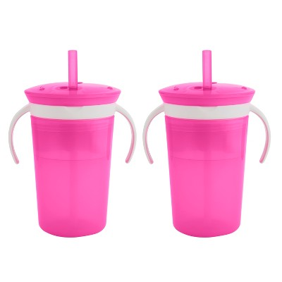 Munchkin SnackCatch & Sip 2-in-1 Snack Catcher and Spill Proof Cup - Pink