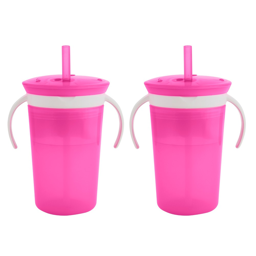 Munchkin Snackcatch Sip 2 In 1 Snack Catcher And Spill Proof Cup Pink