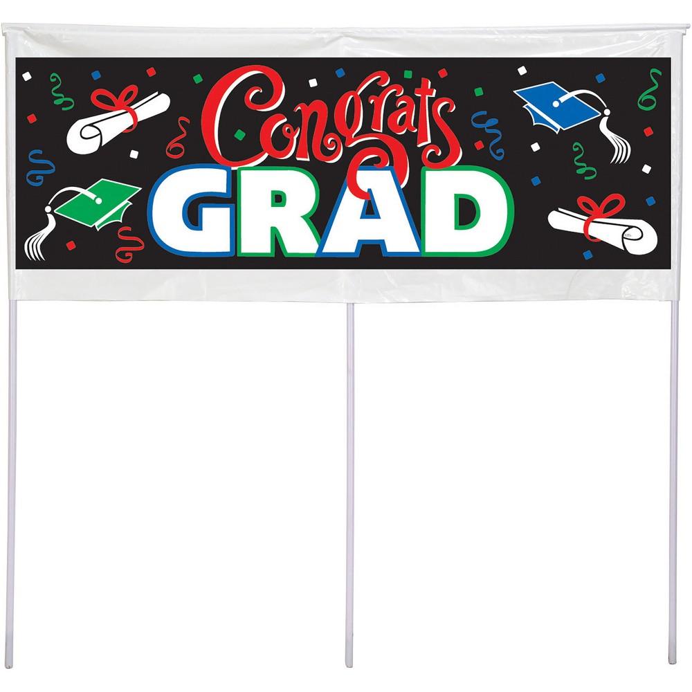 Congrats Graduate Yard Sign, Multi-Colored