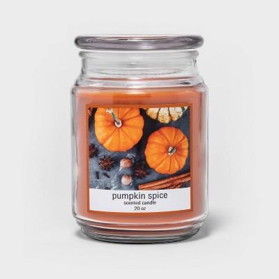 20oz Lidded Glass Jar Pumpkin Spice Candle