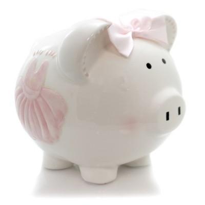 """Bank 7.5"""" Sparkle Dress Piggy Bank Money Fairy Tale  -  Decorative Banks"""