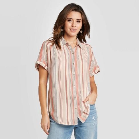 Women's Short Sleeve Button-Down Camp Shirt - Universal Thread™ - image 1 of 3