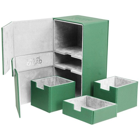 Ultimate Guard Twin FlipnTray Deck Case 200+ Standard Size XenoSkin Green Card Game - image 1 of 3