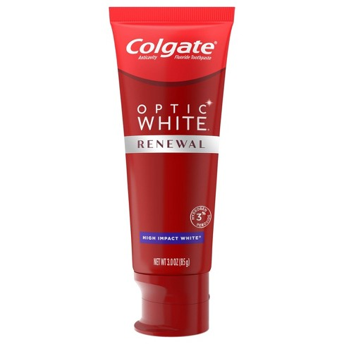 Colgate Optic White Renewal Teeth Whitening Toothpaste - High Impact White - 3oz - image 1 of 4