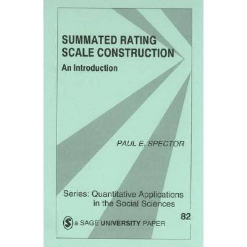 Summated Rating Scale Construction - (Quantitative Applications in the Social Sciences) (Paperback) - image 1 of 1
