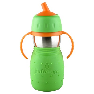 Kid Basix Safe Sippy ™ Stainless Steel Cup- Green