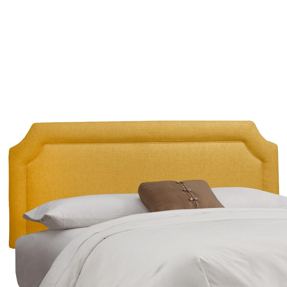 King Clarendon Notched Headboard Yellow Skyline Furniture