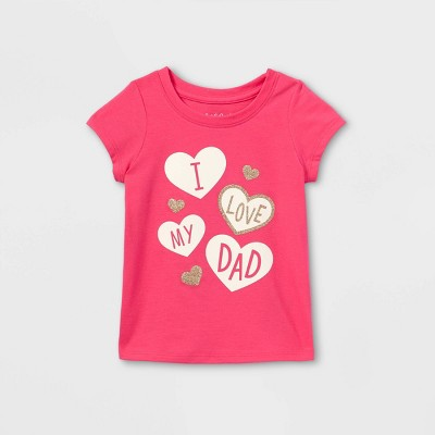 Toddler Girls' 'I Love My Dad' Short Sleeve T-Shirt - Cat & Jack™ Pink