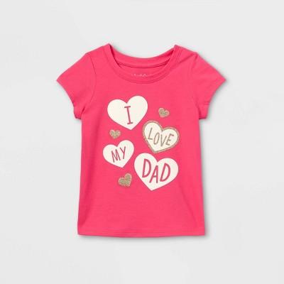 Toddler Girls' 'I Love My Dad' Short Sleeve T-Shirt - Cat & Jack™ Pink