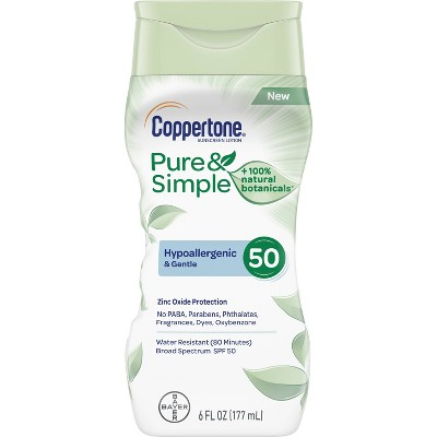 Coppertone Pure & Simple Sunscreen Lotion - SPF 50 - 6oz