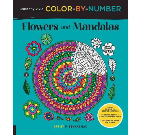 Flowers and Mandalas : Guided Coloring for creative relaxation 30 original designs + 4 full-color bonus - image 1 of 1