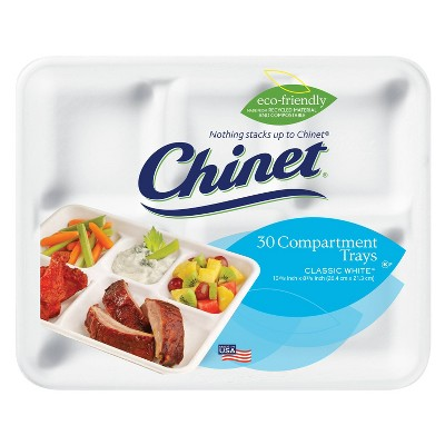 Chinet Compartment Disposable Tray - 30ct