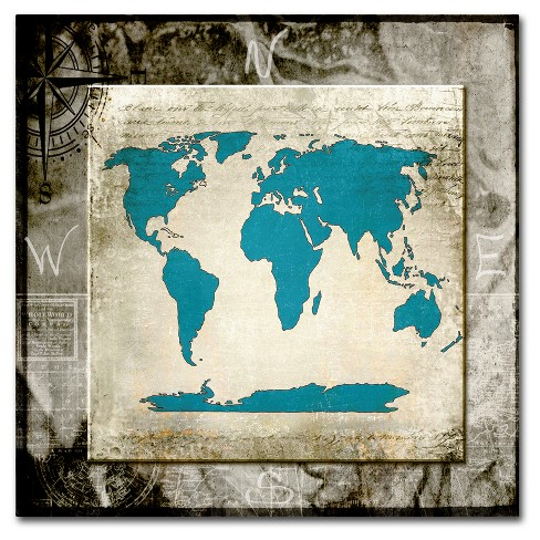Sea Map II' by Lightbox Journal Ready to Hang Canvas Wall Art - image 1 of 3