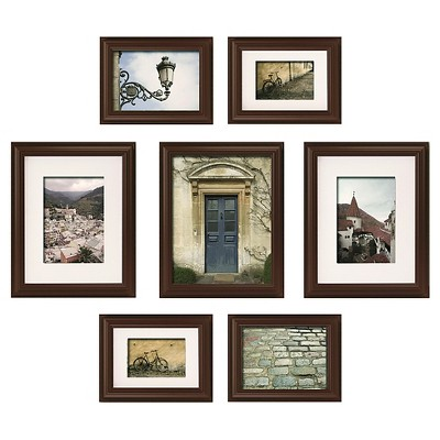 7pc Multi-Size Wall Frame Set Black - Gallery Perfect
