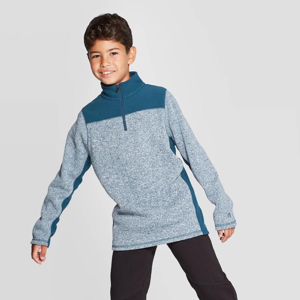 Image of Boys' Fleece 1/4 Zip Sweater - C9 Champion Jetson Blue Heather L, Boy's, Size: Large, Jetson Blue Grey