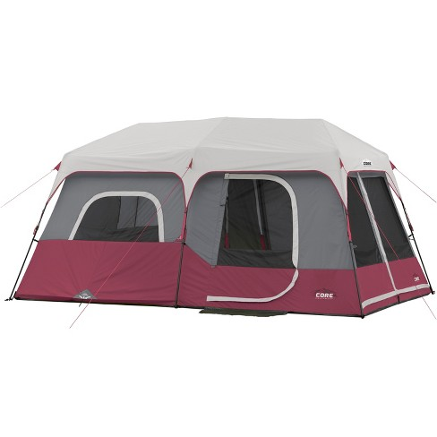CORE Instant Cabin 14 x 9 Foot 9 Person Cabin Tent with 60 Second Assembly, Red - image 1 of 4