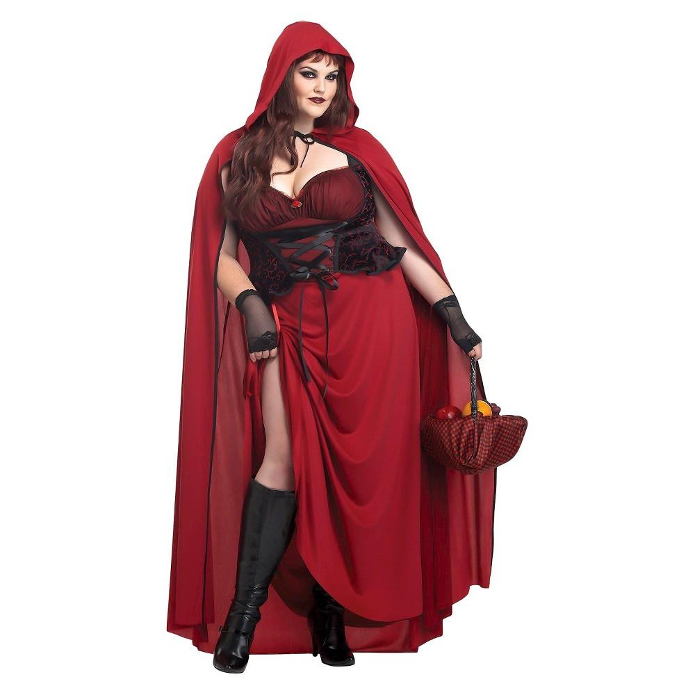 Image of Halloween Dark Red Riding Hood Women's Costume XX-Large