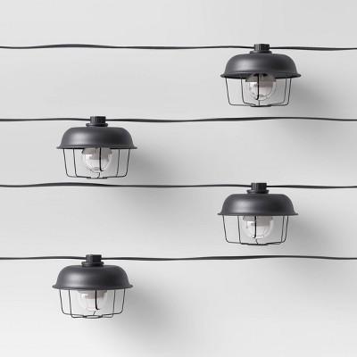 10ct Incandescent G40 String Lights Black - Smith & Hawken™