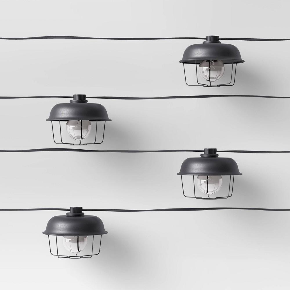 Image of 10ct Incandescent G40 String Lights Black - Smith & Hawken