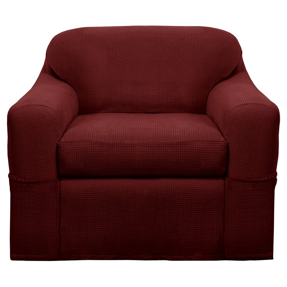 Red Stretch Reeves Wingchair Slipcover - Maytex