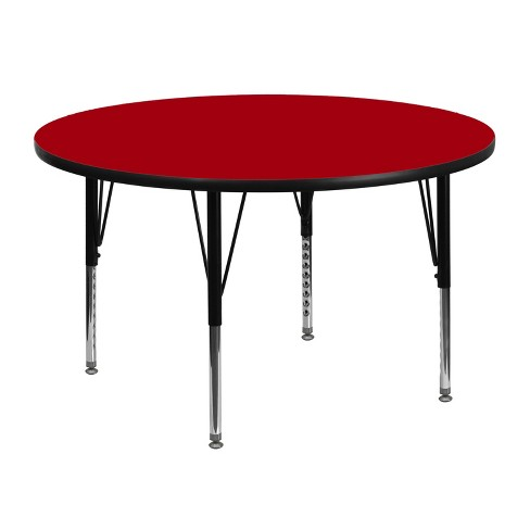 Flash Furniture 48 Round Thermal Laminate Activity Table Height Adjustable Short Legs Target