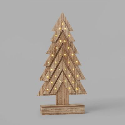 Lit Wood Arrow Christmas Tree Tabletop Decor - Wondershop™