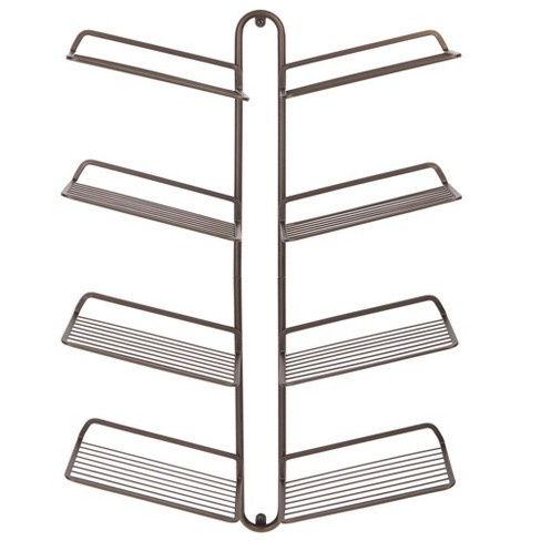 mDesign Metal Shoe Display & Storage Rack, 4 Tier, Wall Mount - image 1 of 4