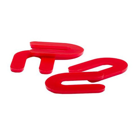 OX Tools T161121 Hard Plastic 1/8-Inch Floor Installation Horseshoe Shims 1,000 Box Pack, Red - image 1 of 3