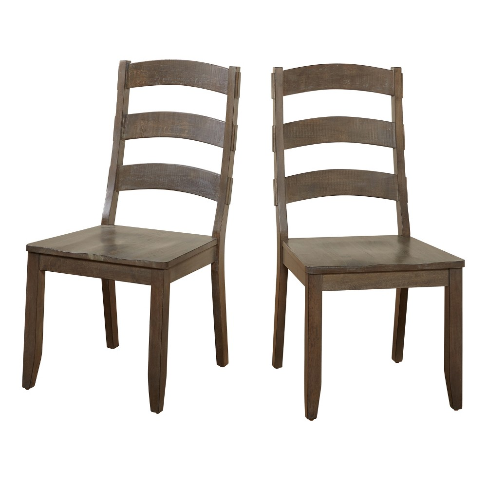 Set of 2 Herabrown Dining Chair - Gray - Buylateral