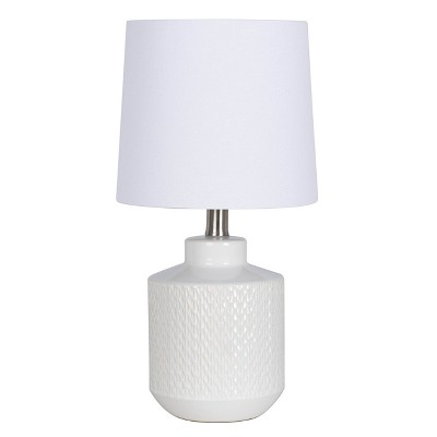 Pattern Ceramic Table Lamp White - Project 62™