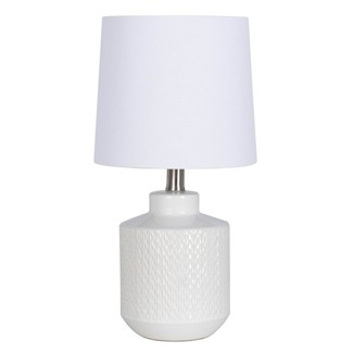 Pattern Ceramic Table Lamp White (Lamp Only) - Project 62™