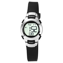 Armitron Sport Women's Digital Chronograph Resin Strap Watch - Black