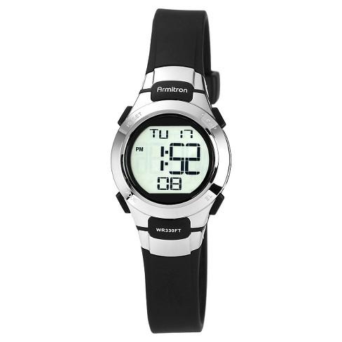 Armitron Sport Women's Digital Chronograph Resin Strap Watch - Black - image 1 of 1