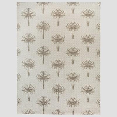 7' x 10' Palm Print Outdoor Rug Tan - Threshold™