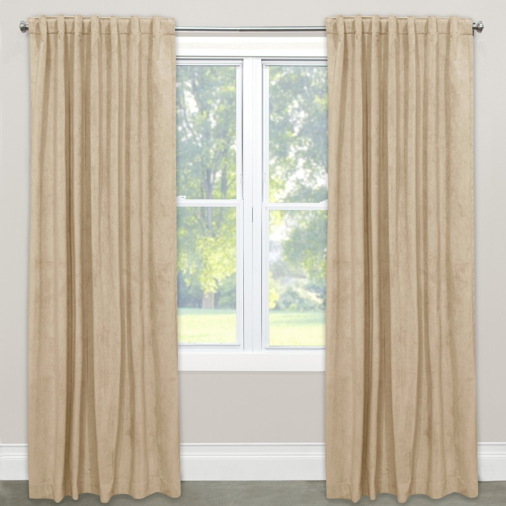 Velvet Unlined Window Curtain Panel - Skyline Furniture (50