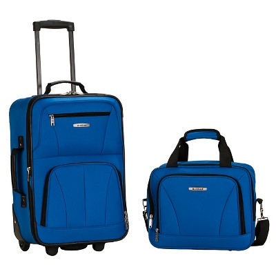 Rockland Fashion 2pc Luggage Set - Blue
