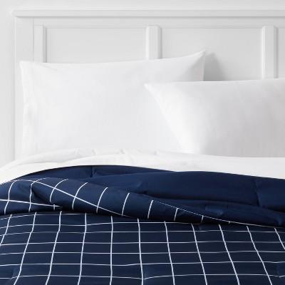 Reversible Microfiber Grid Comforter - Room Essentials™