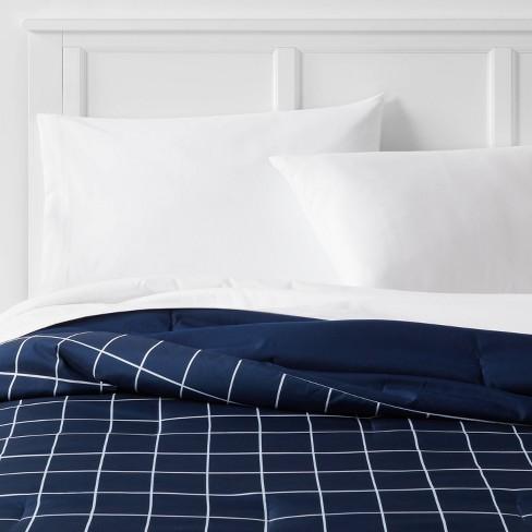 Reversible Microfiber Grid Comforter - Room Essentials™ - image 1 of 4