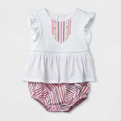 Baby Girls' Knit Romper - Cat & Jack™ Pink Baby