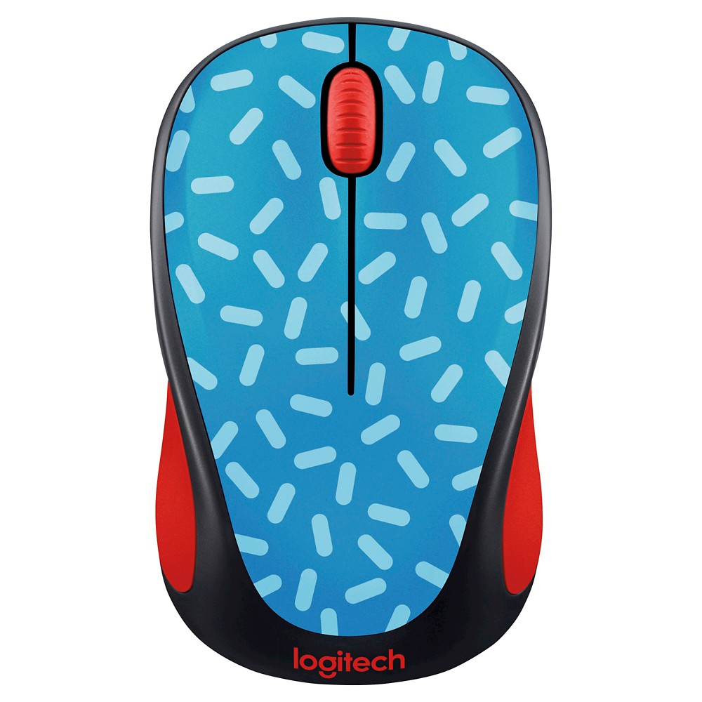 Logitech M317 Wireless Memphis Blue Mouse - Black (910-004749)