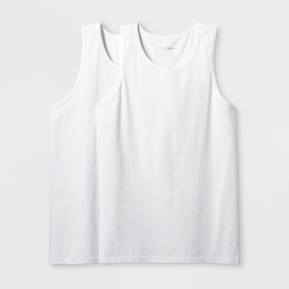 Image of Pair of Thieves Men's Tank Undershirt 2pk - White L, Size: Large