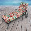 Outdoor French Edge Chaise Lounge Cushion - Berry Maroon - Jordan Manufacturing - image 2 of 3