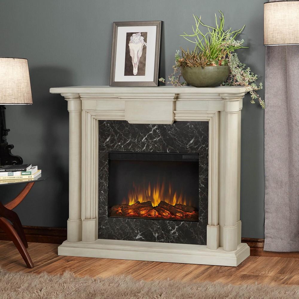 Real Flame - Maxwell Electric Fireplace-Whitewash, Whitewash