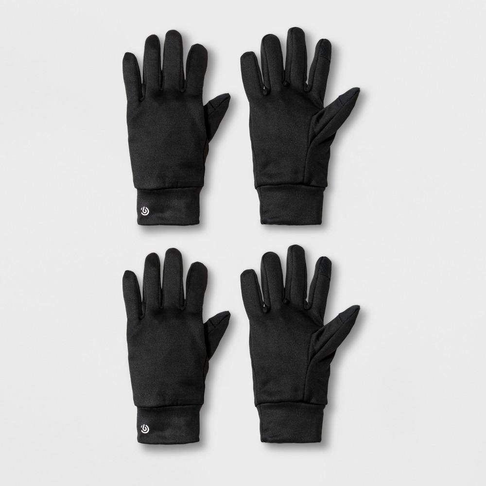 Boys' 2pk Athletic Gloves - C9 Champion Black 8-16
