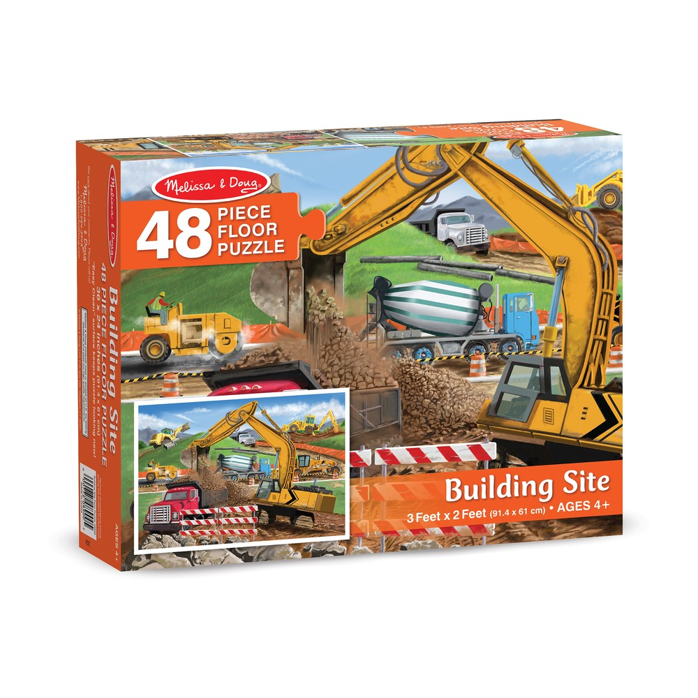 Melissa And Doug Building Site Jumbo Floor Puzzle 48pc