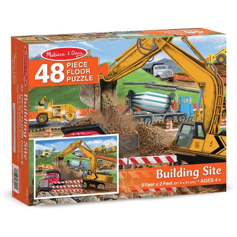 Melissa And Doug Building Site Jumbo Floor Puzzle 48pc - image 1 of 4