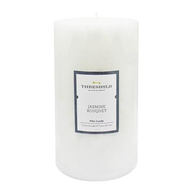 7  x 4  Mottled Pillar Candle Jasmine Bouquet - Threshold™