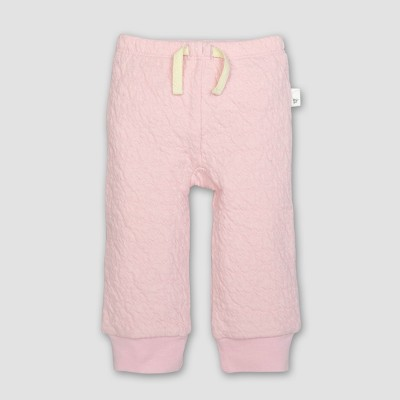 Burt's Bees Baby® Girls' Organic Cotton Quilted Bee Pants - Blossom 6-9M