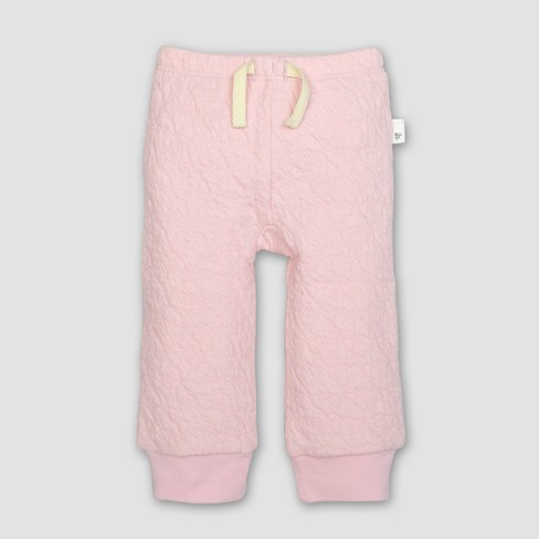 Burt's Bees Baby® Girls' Organic Cotton Quilted Bee Pants - Blossom - image 1 of 2