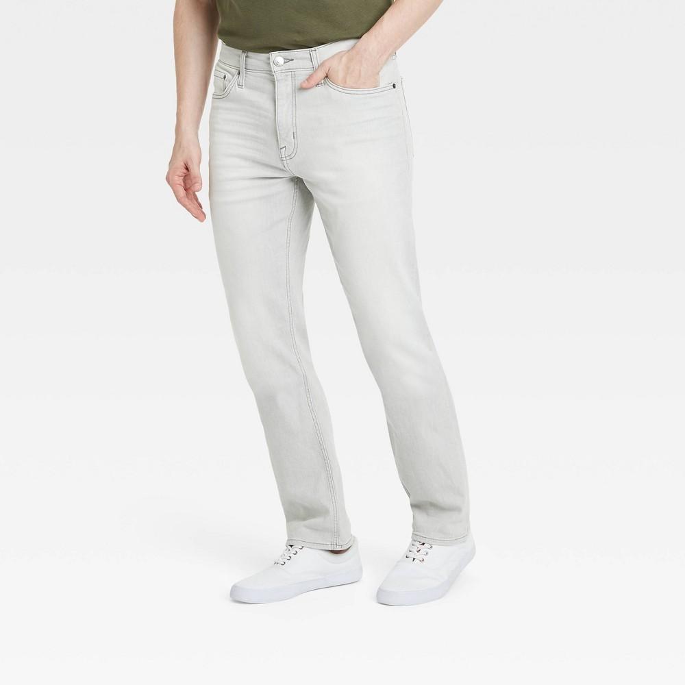 Men 39 S Straight Fit Lightweight Jeans Goodfellow 38 Co 8482 Gray 30x32